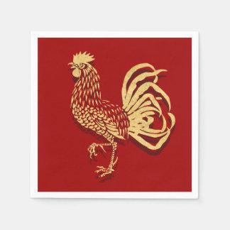 Guardanapo De Papel Galo inspirado chinês no vermelho