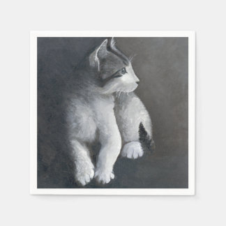 Guardanapo De Papel Gatinho do gato malhado