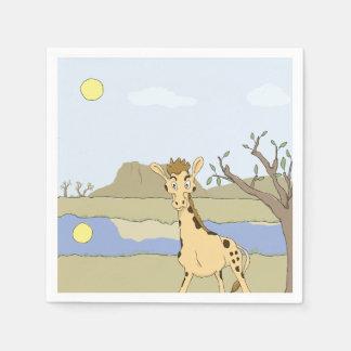 Guardanapo De Papel Girafa