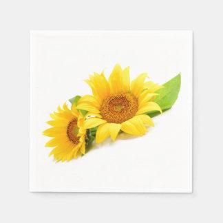 Guardanapo De Papel Girassol amarelo