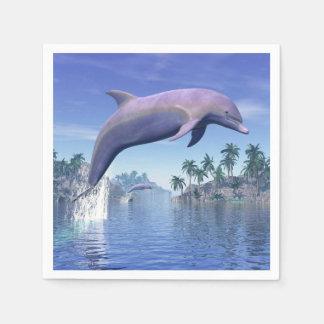 Guardanapo De Papel Golfinho nos trópicos - 3D rendem
