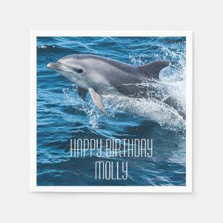 Guardanapo De Papel Golfinho que espirra a festa de aniversário feita