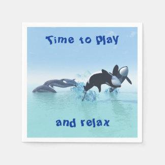 Guardanapo De Papel Golfinhos e orca