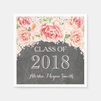Guardanapo De Papel Graduação 2018 floral do quadro da aguarela