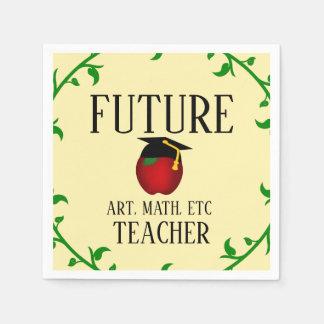 Guardanapo De Papel Graduação futura personalizada Apple do professor