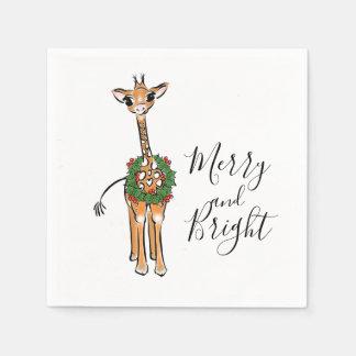 Guardanapo De Papel Grinalda alegre e brilhante do girafa do bebê - do