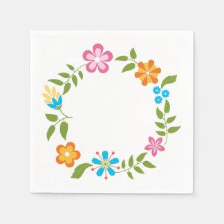 Guardanapo De Papel Grinalda das flores do primavera