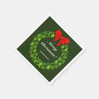 Guardanapo De Papel Grinalda do Natal compor de motivos modernos do