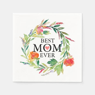 Guardanapo De Papel Grinalda Nunca-Colorida das flores da melhor mamã