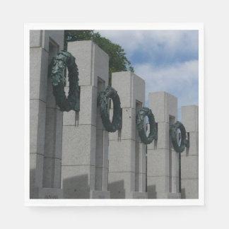 Guardanapo De Papel Grinaldas do memorial da segunda guerra mundial
