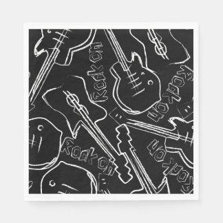 Guardanapo De Papel Guitarra da rocha
