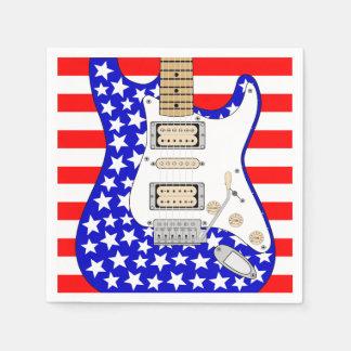 Guardanapo De Papel Guitarra elétrica americana