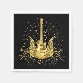 Guardanapo De Papel Guitarra voada ouro