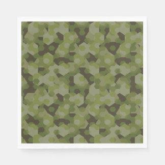 Guardanapo De Papel Hexágono geométrico da camuflagem