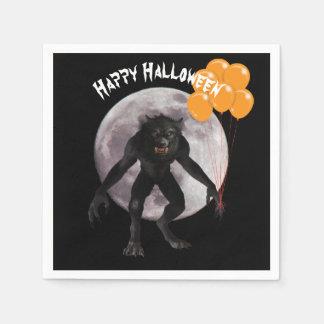 Guardanapo De Papel Homem-lobo do Dia das Bruxas com balões