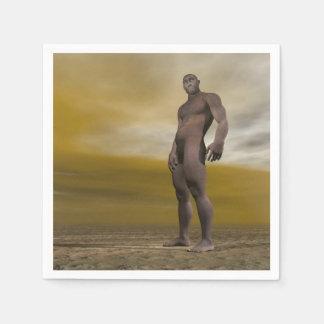 Guardanapo De Papel Homo erectus masculino - 3D rendem