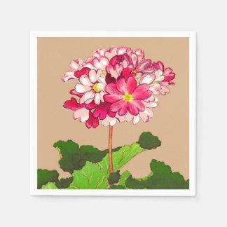 Guardanapo De Papel Hydrangea do japonês do vintage. Rosa e verde