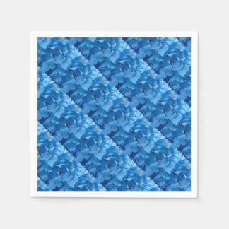 Guardanapo De Papel Hydrangeas azuis