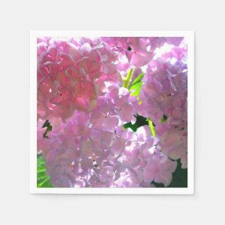 Guardanapo De Papel Hydrangeas cor-de-rosa brilhantes