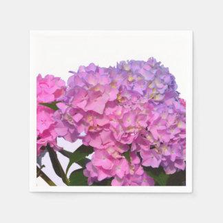 Guardanapo De Papel Hydrangeas cor-de-rosa e azuis
