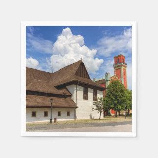 Guardanapo De Papel Igreja articulaa de madeira em Kezmarok, Slovakia