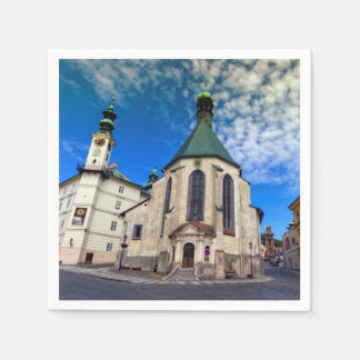 Guardanapo De Papel Igreja de St. Catherine, Banska Stiavnica,