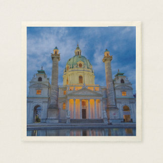 Guardanapo De Papel Igreja do santo Charles, Viena