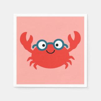 Guardanapo De Papel Ilustração bonito do caranguejo de Specky