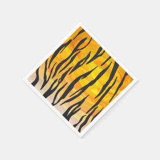 Guardanapo De Papel Impressão preto e alaranjado do tigre