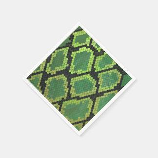 Guardanapo De Papel Impressão preto e verde do cobra