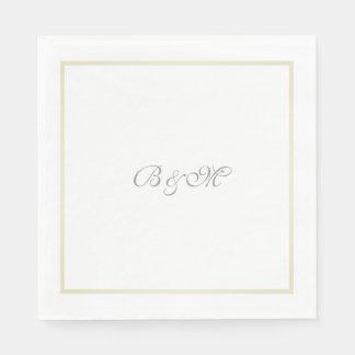 Guardanapo De Papel iniciais minimalistas do monograma/casal