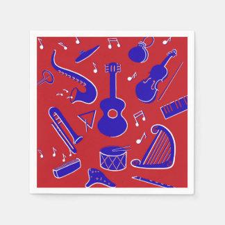 Guardanapo De Papel Instrumentos musicais