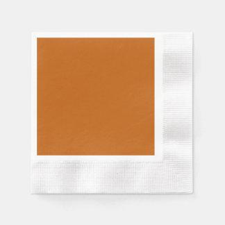 Guardanapo de papel inventado laranja queimado do