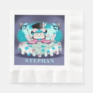 Guardanapo de papel inventados do almoço do ANIMAL