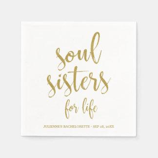 Guardanapo De Papel Irmãs da alma para o brilho Bachelorette da vida