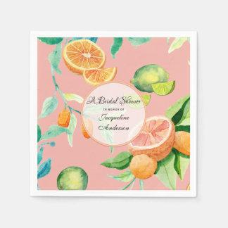 Guardanapo De Papel Jardim alaranjado coral do limão do citrino do chá