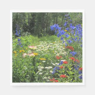 Guardanapo De Papel Jardim colorido do primavera! Azul de Larkspur