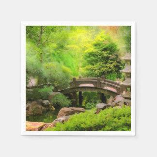 Guardanapo De Papel Jardim japonês - água sob a ponte