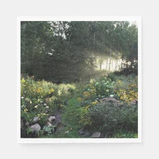 Guardanapo De Papel Jardins dos Sunrays ao fim de setembro