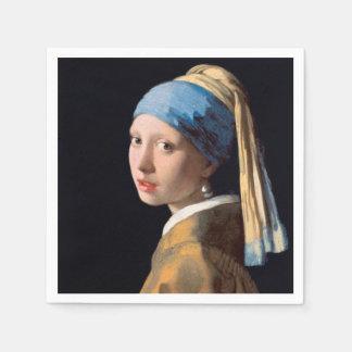 Guardanapo De Papel JOHANNES VERMEER - Menina com um brinco 1665 da