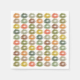 Guardanapo De Papel Lábios coloridos à moda #32