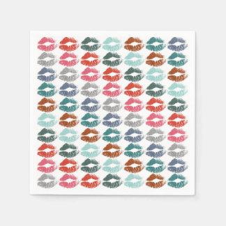 Guardanapo De Papel Lábios coloridos à moda #33