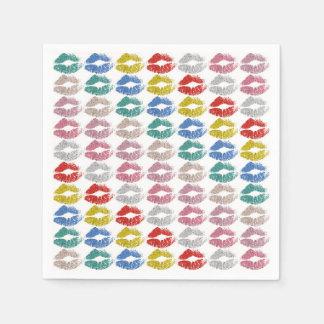 Guardanapo De Papel Lábios coloridos à moda #36