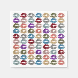 Guardanapo De Papel Lábios coloridos à moda #39