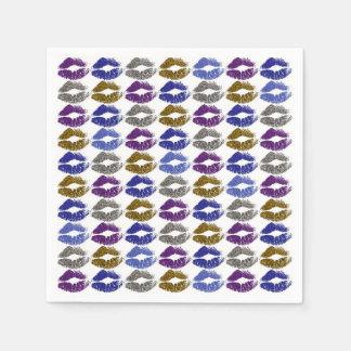 Guardanapo De Papel Lábios coloridos à moda #40