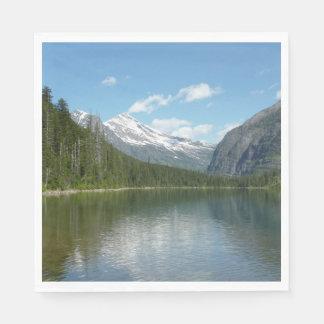 Guardanapo De Papel Lago avalanche mim no parque nacional de geleira