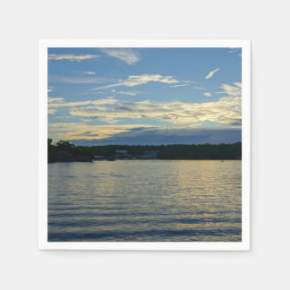 Guardanapo De Papel Lago do por do sol do azul de Ozarks