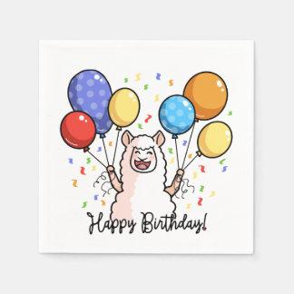 Guardanapo De Papel Lama do feliz aniversario