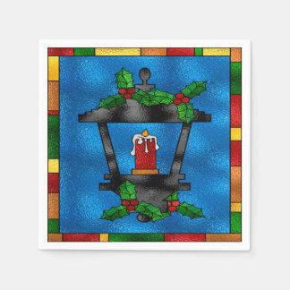 Guardanapo De Papel Lanterna do Natal do vitral
