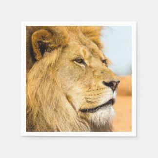 Guardanapo De Papel Leão grande que olha longe